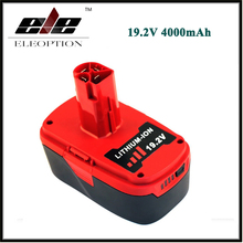 ELEOPTION 19.2V 4000mAh Li-Ion Power Tool Battery For CRAFTSMAN C3 11374 11375 130285003 CRS1000 10126 11569 11585