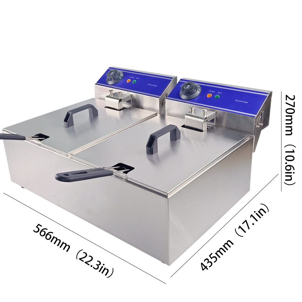 Uso Industrial e Comercial Fritadeira Elétrica Máquina de Fritar Fritadeira Multifuncional Forno Sem Fumaça Grill Frango Frito Massa