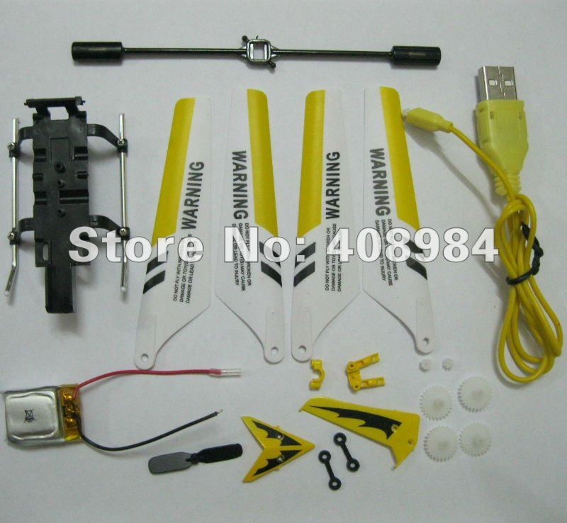 107 USB cable, main blade (A+B),lipo battery,tail blade,main gear landing gear spare parts