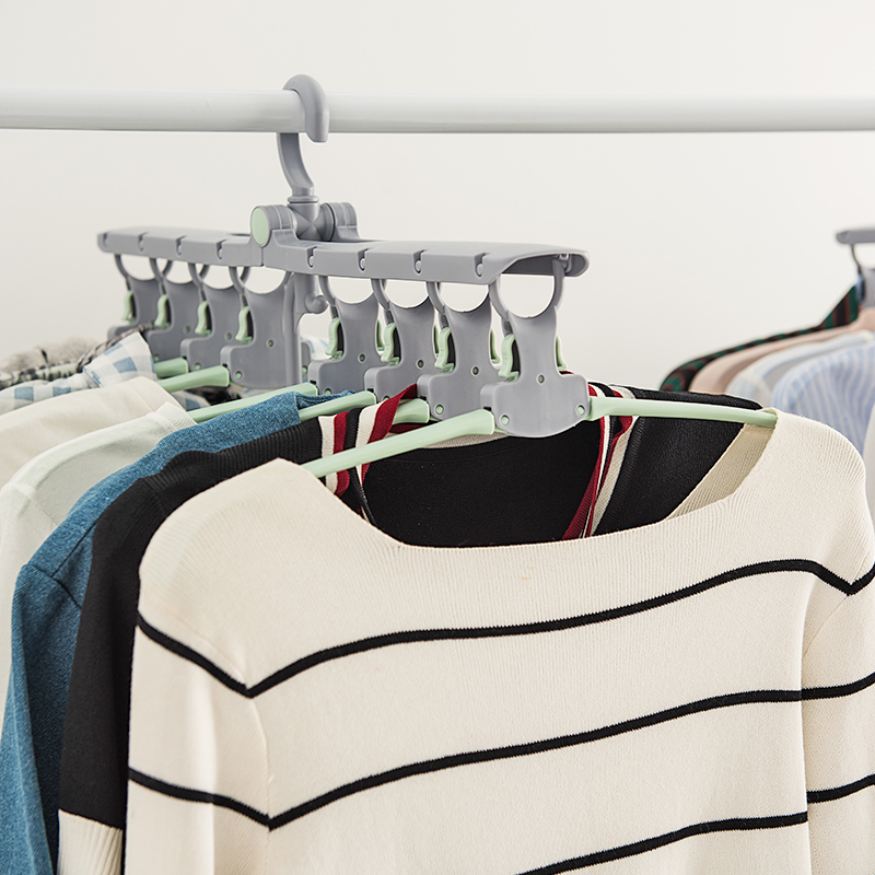 050 Multi function Automatic folding large size dry and wet clothes rack 360 degree rotation coat hanger 51 40 22cm in Drying Racks Nets from Home Garden