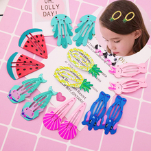 10Pcs/Set Kids Hair Braider Accessories Hair Clips Cartoon F