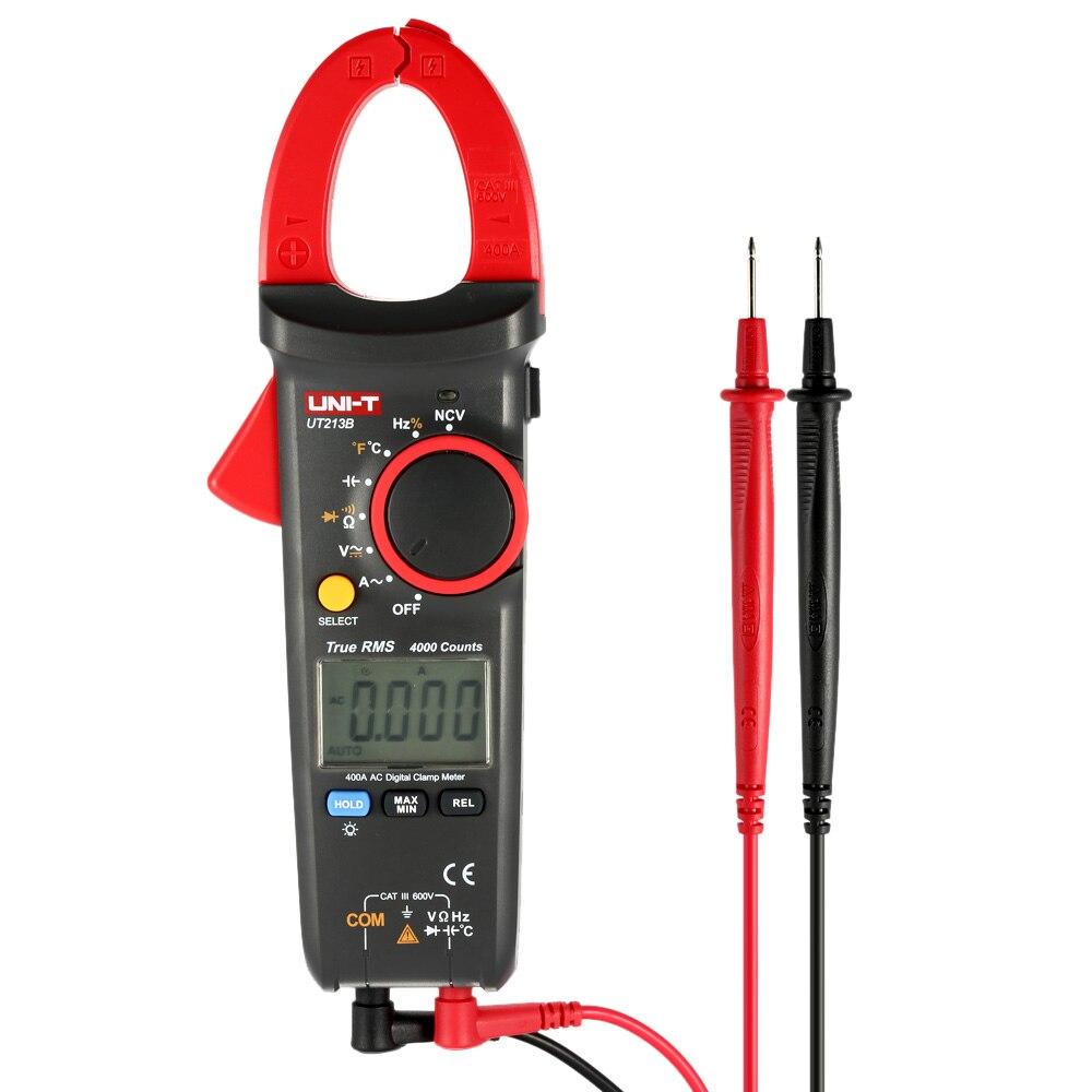 Digital Clamp Meter Multi Multimeter AC DC Current Tongs Voltage Resistance Capacitance Diode Continuity NCV Temperature