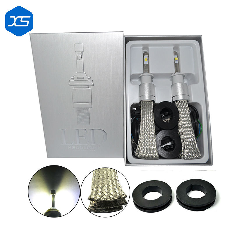 ФОТО 2Pcs Car Spare Parts R3 Light H1 H3 6000K Xenon White H7 H11 Headlight Bulb 9005 9006 Headlight Replacement, Auto Led