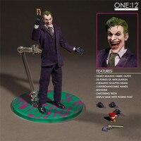 Batman Action Figure Joker Real Clothing Movable PVC Figure Toy 1:12 Anime Batman Joker Mezco Collectible Model Doll