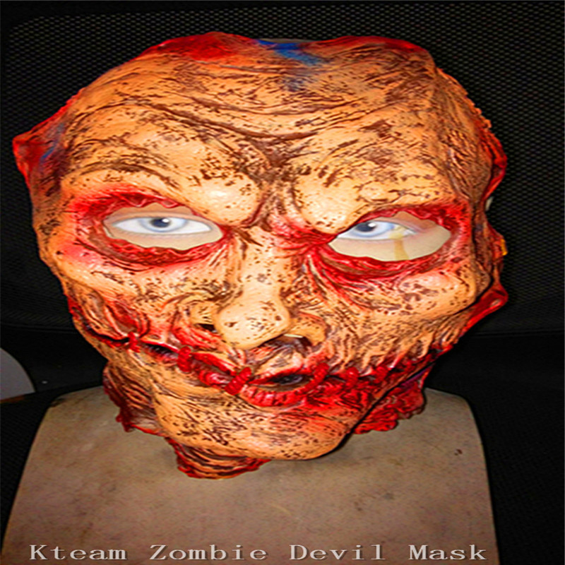 Halloween Adult Mask Zombie Mask Latex Bloody Scary Devil