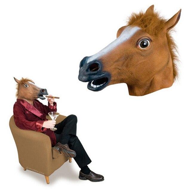 Nouvelle tête de cheval masque Latex Costume d\u0027animal Theater Prop Gangnam  Style pour Halloween