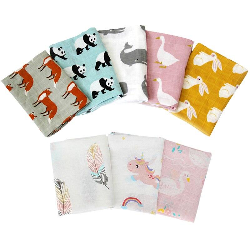 Baby Soothing Towel Super Soft Muslin Bath Towel For Newborns Multi-use Baby Bib Burp Cloth Kid Scarf Handkerchief 60x60cm 2Pcs