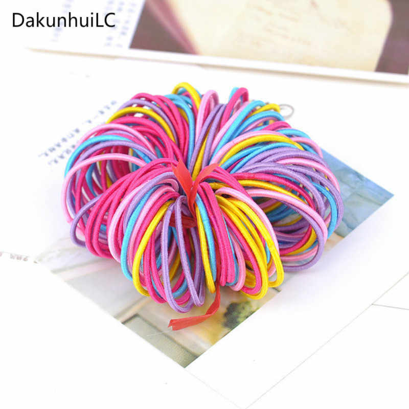 2019 Hot Sale New 10pcs/lot Hair Bands Ponytail Holder Rubber Bands Hair Elastic Accessories Girls Women Multicolor Tie Gum