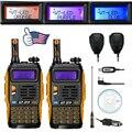 2x Baofeng GT-3TP MarkIII VHF/UHF Jamón Doble Banda Walkie Talkie de Radio de Dos vías + 2x Altavoz + 1x Cable 1/4/8 W FM