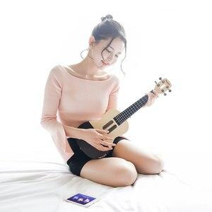 Image 2 - U1 ukelele de 23 pulgadas con 4 cuerdas, guitarra eléctrica acústica inteligente con aplicación Xiaomi, IOS, Android, hawaiana