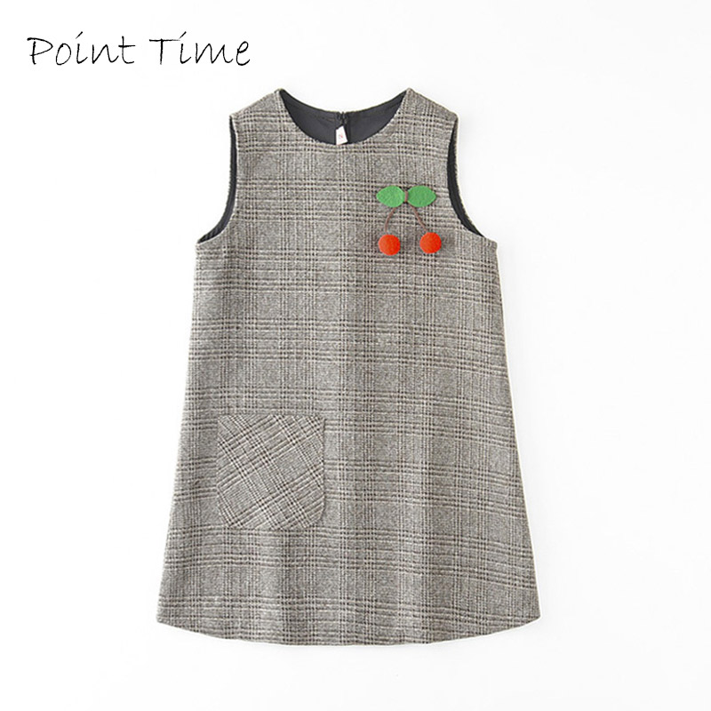 Baby Girls Cute Cherry Princess Dress Sleeveless Autumn Winter Dress For Toddler 2-10 Years Children Fashion Clothing Gray Dress jvop 100 include cable used in good condition