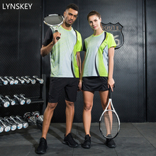 LYNSKEY Women/Men Tennis Clothes Table Tennis Clothing Badminton Shirt+Shorts/Skirt Breathable Short Sleeve Jerseys Sport Set