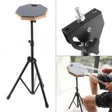 Musical Instrument  Drum 8 Inch Rubber Wooden Dumb Practice Training Pad with Stand