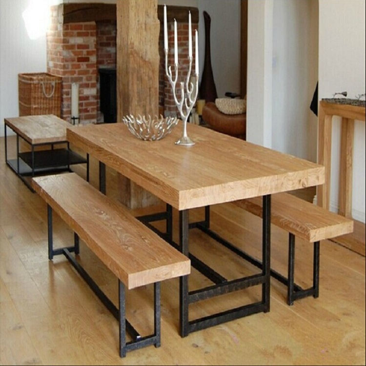 American Country Iron Wood Nancy Old Pine Rectangular Table Office  Conference Table Bar Retro Furniture In Children Tables From Furniture On  Aliexpress.com ...