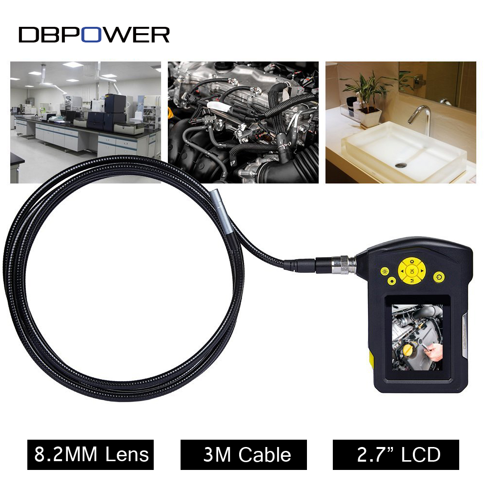 dbpower 2 7 lcd inspection camera usb endoscope 8 2 mm 3m. Black Bedroom Furniture Sets. Home Design Ideas