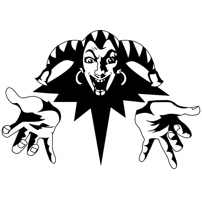 CK2117#42*30cm King And Jester Funny Car Sticker Vinyl Decal Silver/black Auto Stickers For Car Bumper Window Car Decorations