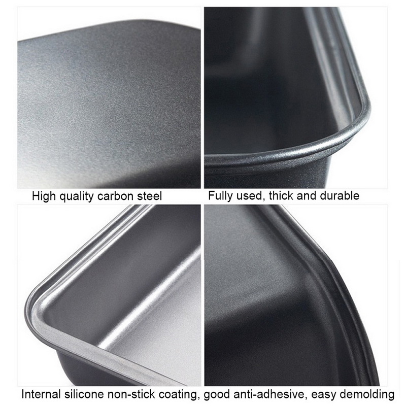 1pc Rectangle Carbon Steel Bakeware with Non Stick Coating for Quick and Effortless Food Release Suitable for Bread Recipes 12
