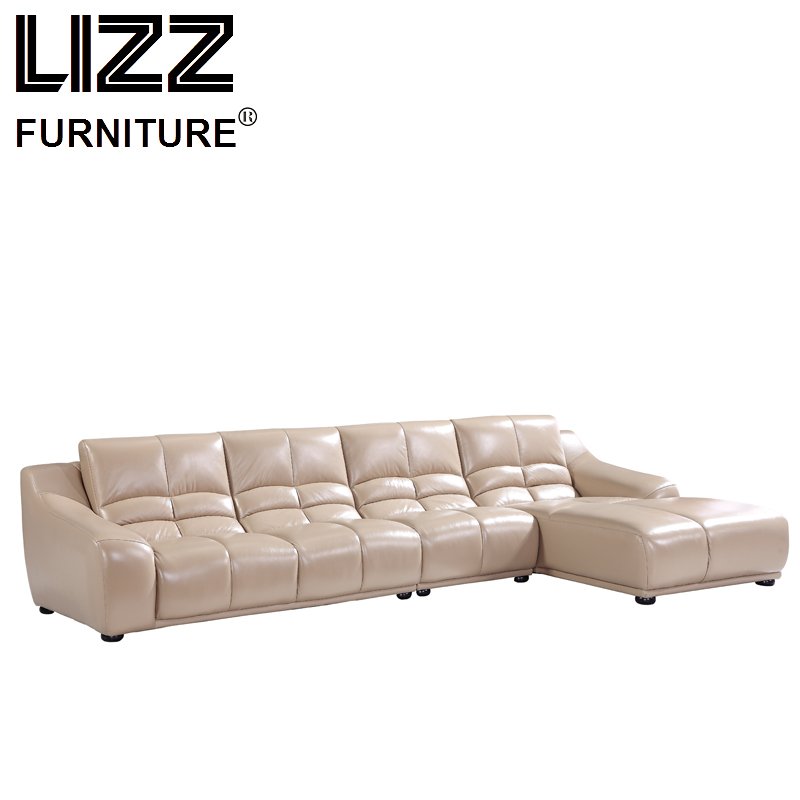 Corner Sofas Loveseat Chair Sofa Para Sala Living Room Furniture Modern Design Sectional Corner Leather Sofa Set ...