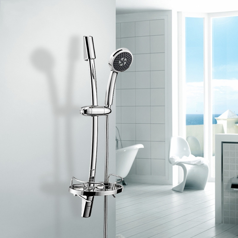 Adjustable Shower Riser Rail Kit With Chrome Shower Head Holder Bar ...