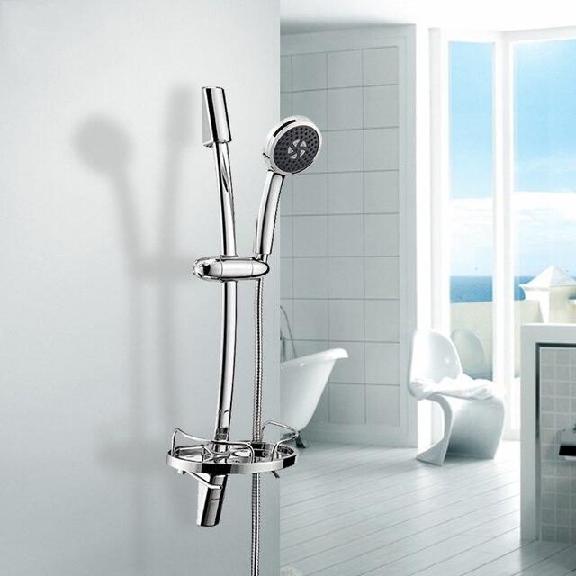 Adjustable Shower Riser Rail Kit With Chrome Shower Head Holder Bar ...