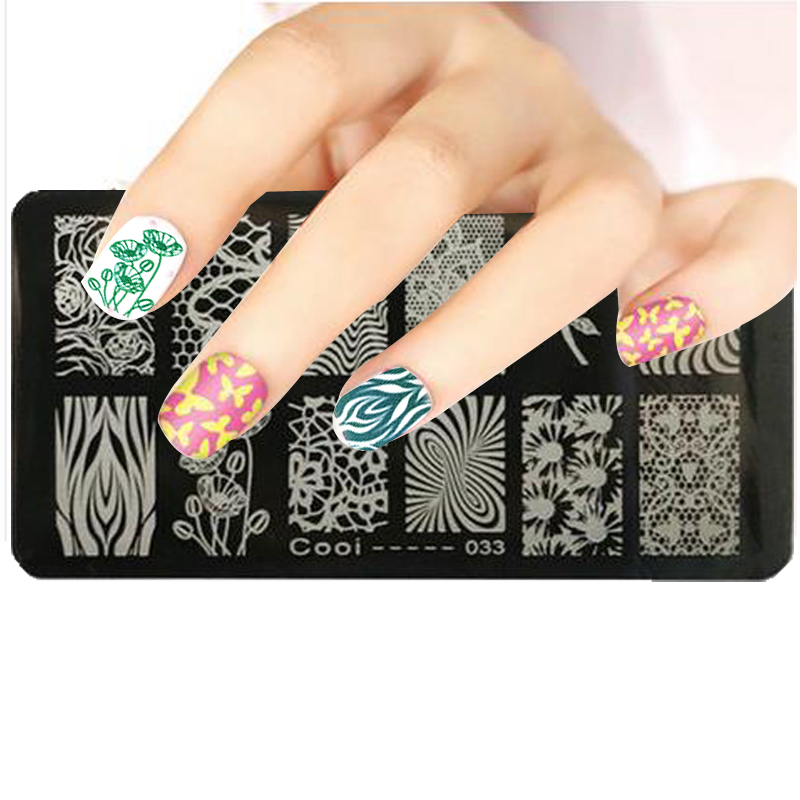 New Nail Art Stamping Plates 12pcs/1set Classic Lace Metal Nail Art ...