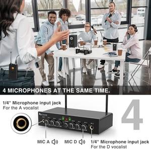 Image 4 - אלחוטי מיקרופון מערכת, Fifine UHF ערוץ כפול מיקרופון אלחוטי סט עם 2 אוזניות & 2 דש Lavalier מיקרופון. K038