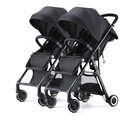High Landscape Twin Baby Stroller Detachable Lightweight Lounger Available Double Umbrella Baby Stroller