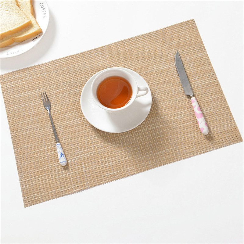30*45CM Non-slip Table Tableware Coaster Mat Waterproof Western Decoration Dish Cup Holder Pad Heat Resist Food Mats Drop Ship