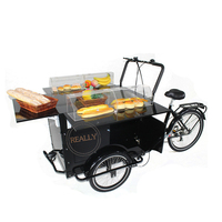 mobile small coffee tricycle cake kiosk beer trike fast food bike with display table