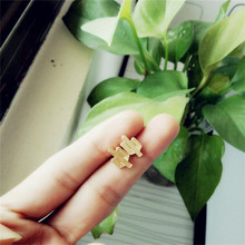 10PCS/lot Fashion Silver plated cactus stud earrings, planar hollow out cactus stud earrings for women wholesale free shipping