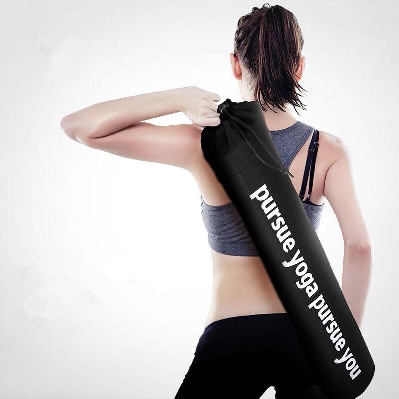 Black Yoga Bag Letter Canvas 70 Cm / 75 Cm Ultralight Yoga Mat Bag For Fitness Gym Backpack Dance Mat Case Yoga Bag Mat