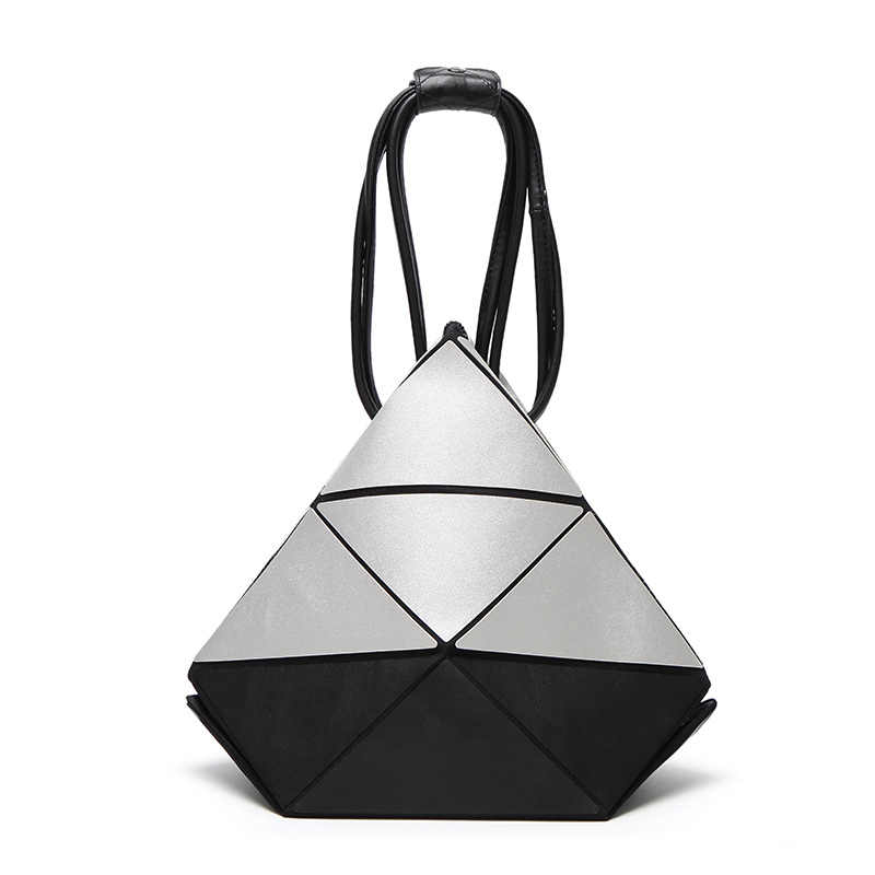 2017 Famoso Diamante Marca Tote do Saco Das Mulheres de Alta Qualidade Sacos de Bolsas de Couro Ombro Dobrar Bolas Senhoras Geométrica
