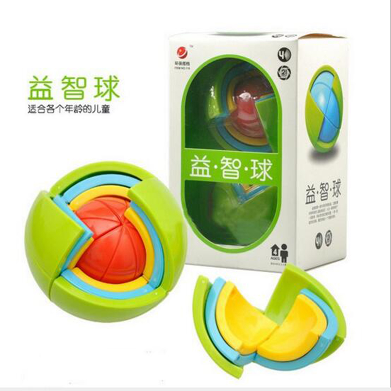 New DIY 3D Magic Intellect Puzzle Maze Ball Brain Teaser Game Educations for Kids IQ Training Logical Puzzle Children Toy m310