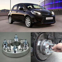 Teeze 4pcs New Billet 4 Lug 12*1.5 Studs Wheel Spacers Adapters For Toyota Yaris/ Corolla EX / Vios