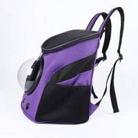 New Pet Backpack Dog Bags Portable Breathable Travel Bag Mesh Backpack Head Out Double Shoulder Bag