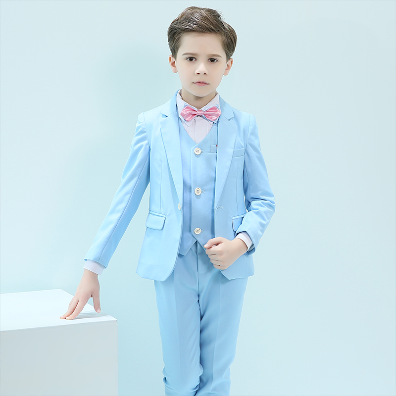 Boys clothes childrens piano costumes boys dresses summer flower girl suits set of three sets of small host costumesBoys clothes childrens piano costumes boys dresses summer flower girl suits set of three sets of small host costumes