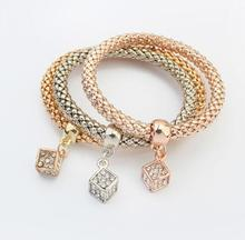 new Arrival SBY1455 fashion delicate wild temperament metal gold chain Multilayer stone bracelets New Year Gifts Aliexpress
