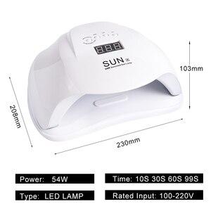 Image 4 - 54W Móng Tay Đèn Máy Sấy Móng Tay UV Gel Ba Lan Sấy Đèn Dầu Bóng Chữa 36 Đèn LED Cảm Biến Hồng Ngoại Thông Minh Thời Gian dụng Cụ Làm Móng Tay Lasunx