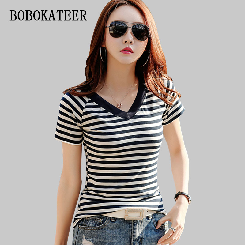 BOBOKATEER loose women   t     shirts   women 2018 summer short sleeve casual   t     shirt   women tops cotton tshirt plus size tee   shirt   femme