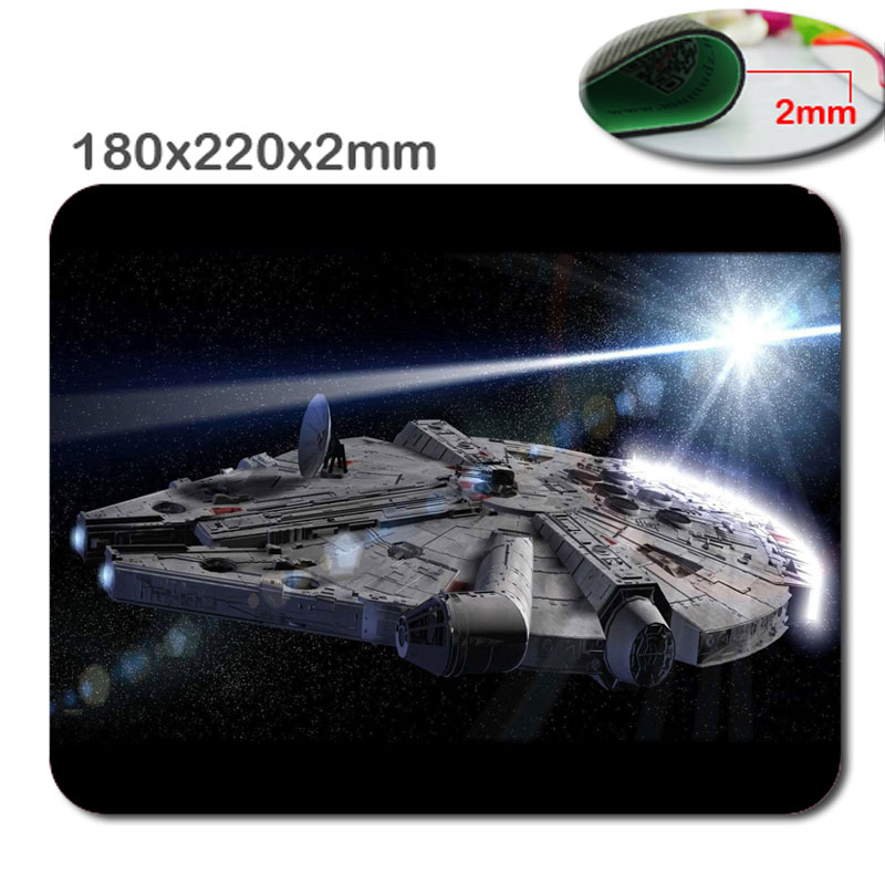 Arrivals from Star Wars millenium falcon Desktop Pad Mousepads yoda silicone mouse Pad 220 x 180 mm x 2 mm tappetino mouse Pad