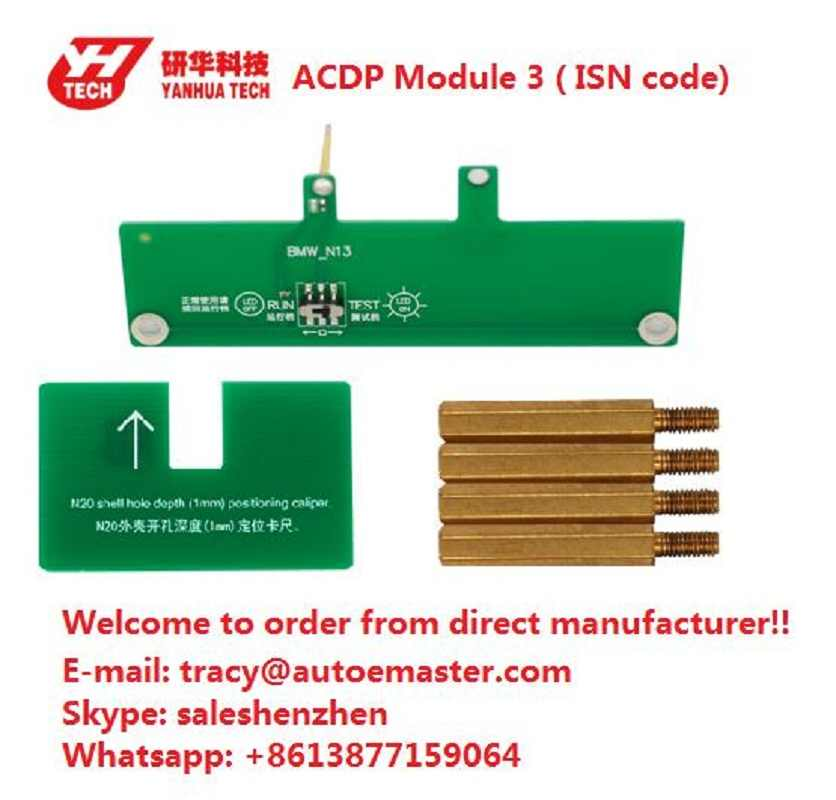 Yanhua Mini ACDP programming master support BMW CAS FEM BDC key program  without soldering Refresh key FRM Footwell module