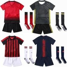 Uniformes de fútbol en blanco personalizar camisetas de fútbol jóvenes niños  fútbol conjunto niños niñas traje de deportes con c. 1ebd26cd57ca2