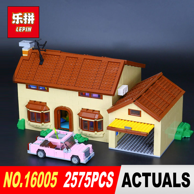 New Lepin 16005 2575Pcs Simpson's family Kwik-E-Mart Set Building Blocks Bricks Educational Toys Funny Children DIY Gift 71006