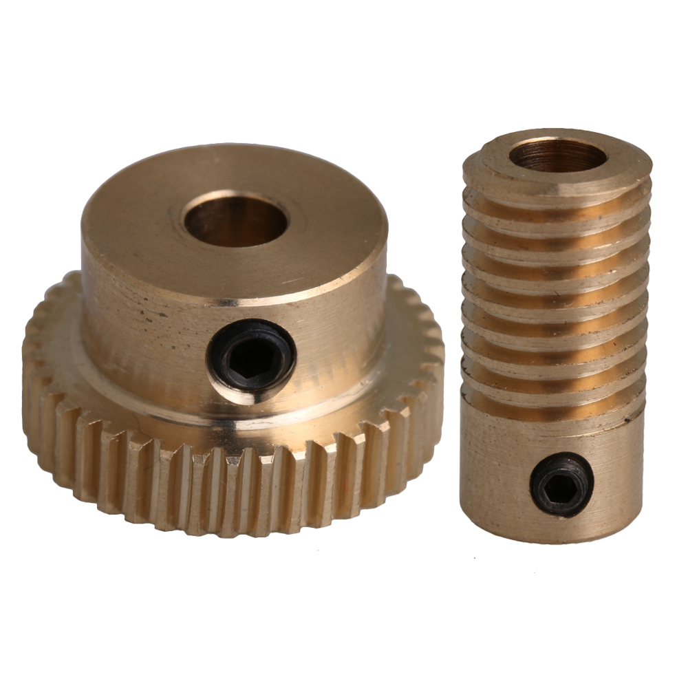 1 Modulus Brass 20 to 60 Tooth Gear Worm OD 18mm for Shaft Drive Gearbox