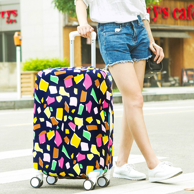 Dust-Cover Trolley-Bags Elastic-Protection-Sleeve Travel-Accessories Suitcase Fashion