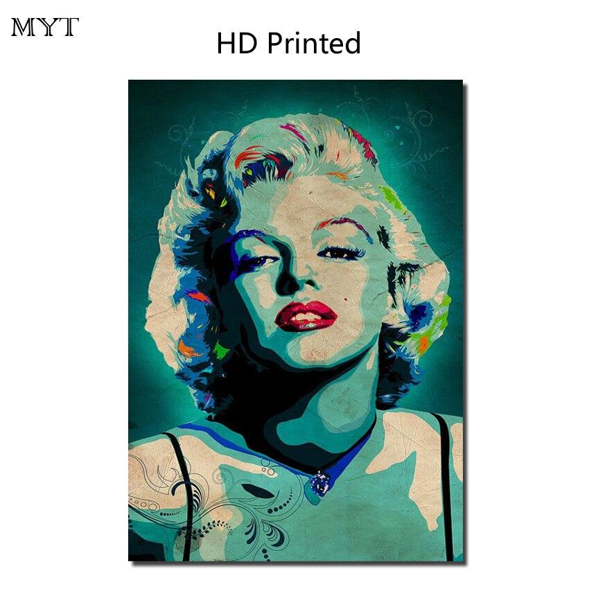 HOT Sale Celebrity Marilyn Monroe HD Printed Painting Home Decorater Artwork Picture For bed room Cafe No Framed or Diy Framed