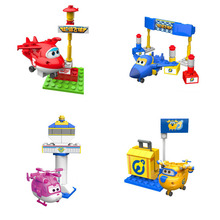4PCS/LOT Super Wings Assembly Building Blocks Educational DIY Transformation Models Toys Birthday Christmas Gift For Kids