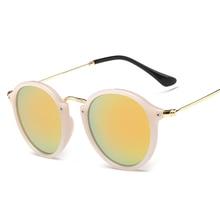 Laura de Hadas Moda Estilo gafas de Sol Redondas de la Mujer Transparente Marco Espejo Gafas de Sol Mujer gafas de sol de los hombres