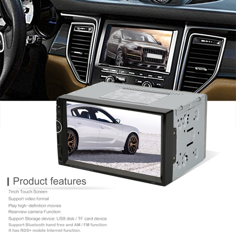 7 Inch Cars Vehicles Car MP3/MP4/MP5 Player Video steering-wheel 2 Din With AM+RDS+ Mobile Phones Internet + Camera Optional car mp5 player bluetooth hd 2 din 7 inch touch screen with gps navigation rear view camera auto fm radio autoradio ios