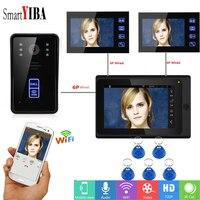 SmartYIBA Wireless Home Video Intercom RFID Unlock WIFI IP Intercom APP Control 7 Inch Video Door Entry System Video Doorbell